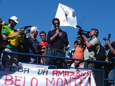 Sigourney Weaver, James Cameron, and Joel David Moore of Avatar fame were in Brasilia on April 12, 2010 to add their voices to the strong movement in Brazil to stop Belo Monte Dam.