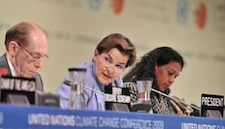 It's full speed ahead for Christian Figueres as she urges nations to expand the commitments to cut greenhouse gas emissions