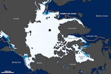Arctic sea ice lowest ever recorded for January 2011