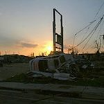 Morning dawns on the destruction left behind from the killer tornado that tore through Joplin, Missouri