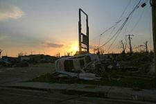Morning dawns on the destruction left behind from the killer tornado that tore through Joplin, Missouri