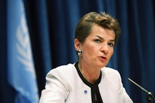 UNFCCC chief warns that 2 degree target is not enough, especially for the most vulnerable nations and regions of the world