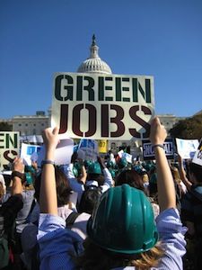 President Obama should focus on creating green jobs and supporting environmental regulation. Jobs and a healthy environment are not mutually exclusive