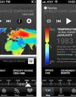 Just Science mobile app provided interactive climate change map