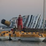 The shipwrecked Costa Concordia serves as a stark reminder of the environmental impact of cruise ships