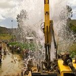 Clean water erupts at a Charity Water project in Ethiopia