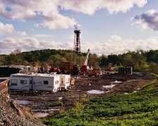 Natural gas fracking operations like this pose a hazard to human and ecosystem health