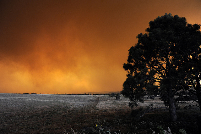 The Waldo Canyon Fire rages near Colorado Springs