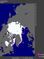 Sea ice extent June 2012