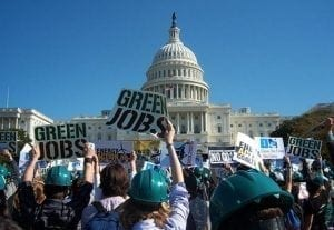 Despite the rhetoric from the GOP, green job growth is a principal driver in an otherwise lackluster economy