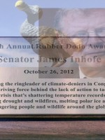 Senator Inhofe deserves the 2012 Rubber Dodo award