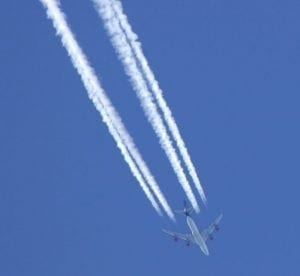 Airplane emissions: The Intergovernmental Panel on Climate Change reports that CO2 emitted by jets can survive in the atmosphere for upwards of 100 years, and that its combination with other gas and particulate emissions could have double or four times the warming effect as CO2 emissions alone.