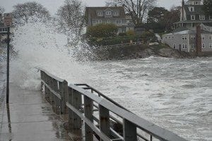 Most Earth scientists agree that future sea levels will rise at a greater pace than during the last 50 years. Coastal communities will suffer the most, as flooding from rising water levels will force millions of people out of their homes. Pictured: flooding in Marblehead, Massachusetts caused by Hurricane Sandy on October 29, 2012