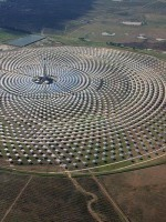 Renewable can power the world: Gemasolar is a baseload solar thermal plant, using molten salt storage to run 24 hours per day.