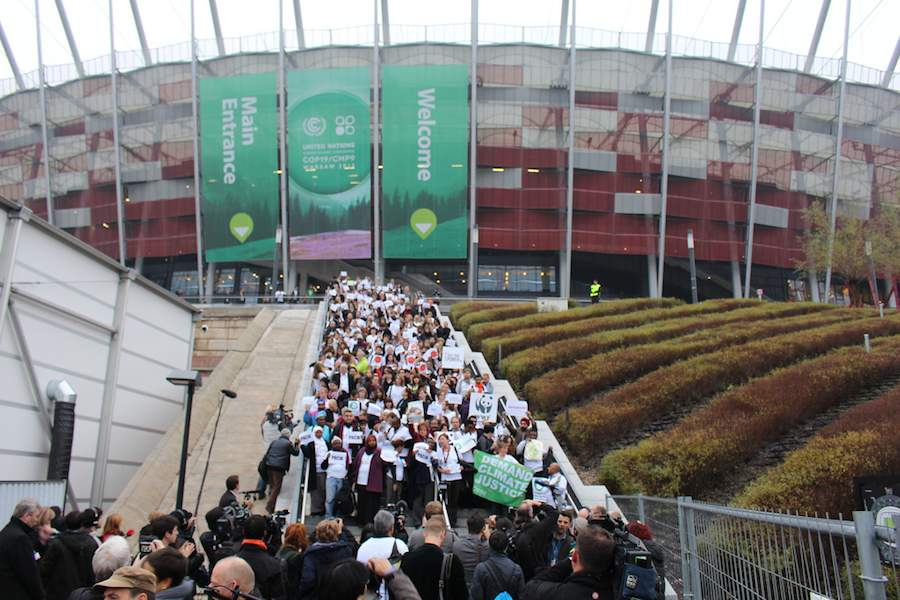 Lack of progress leads many from NGO's and civil society to walk out of climate talks at COP19 in Warsaw