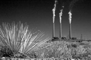 The Navajo Generating Station in Arizona emits nearly 20 million tons of CO2 every year