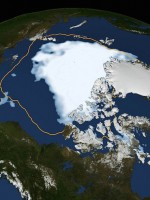 Shrinking ice in the Arctic