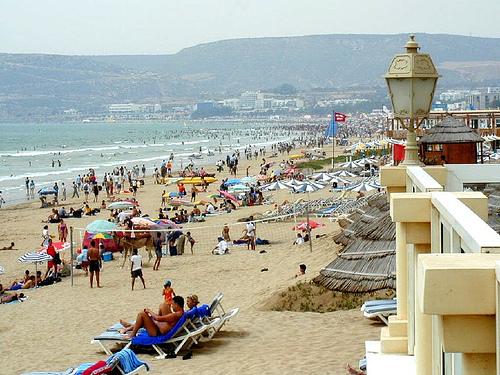 The beach in agadir