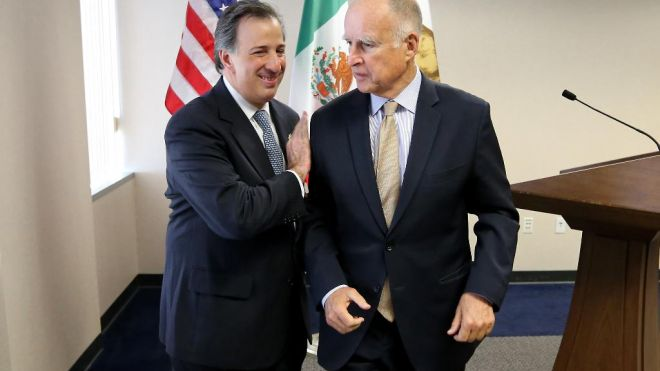 The leaders of California and Mexico agree to cooperate in combating climate change and wildfires