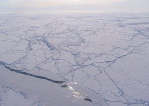 NASA overflight of Arctic Sea Ice