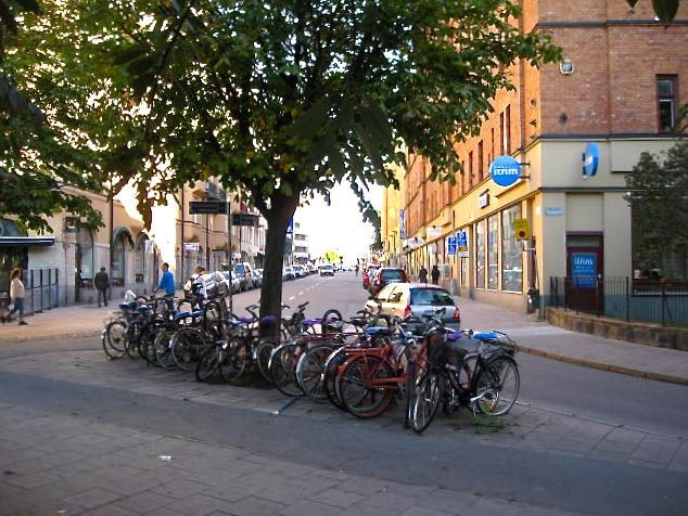 A testament to Sweden's environmental leadership: bicycles are a principal means of transportation