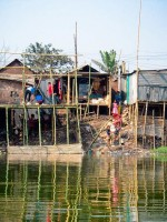 Coping with climate change: Stilt houses.