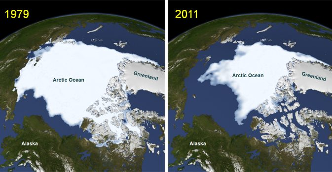 Arctic sea ice loss 1979-2011