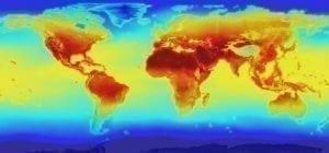 NASA global warming map