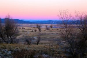 Folsom Lake at Sunset during the California drought