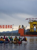 Protestors hope to stop Shell from exploratory drilling in the Arctic