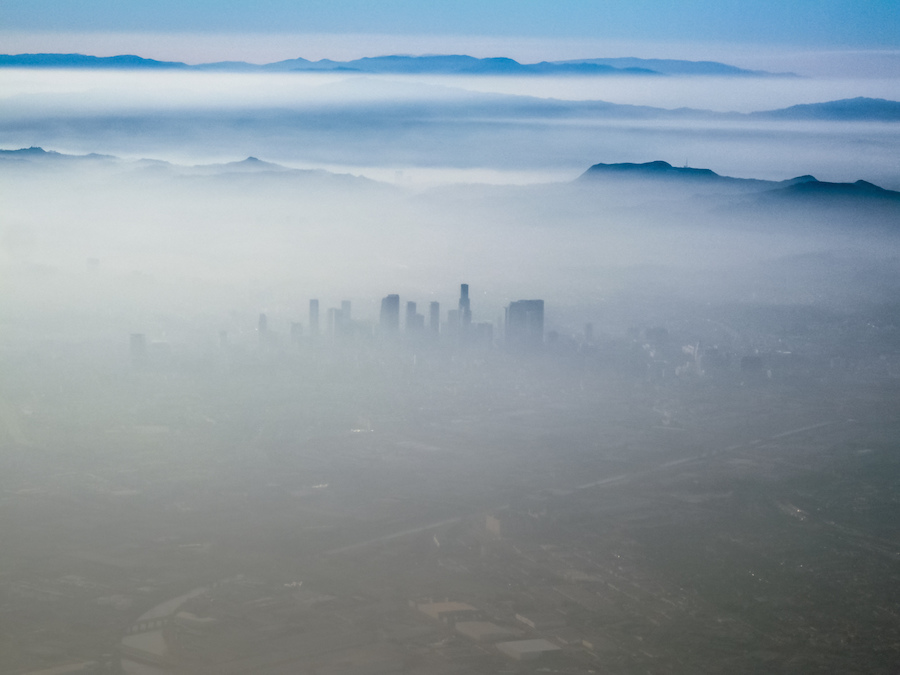 The smog over Los Angeles