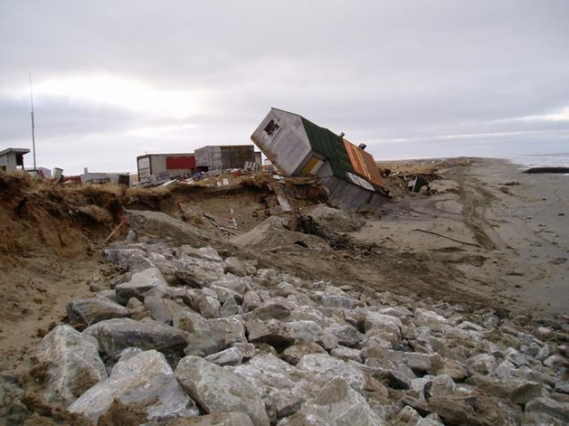 Alaska permafrost thaw wrecks havoc on this house