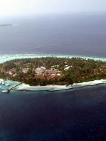 An island in the Maldives slowly succumbs to a rising sea