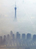 beijing smog aerial