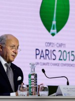 COP21 president Laurent Fabius presides over Paris climate talks