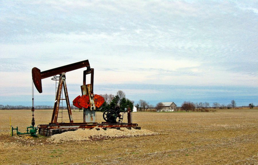 Abandoned well of a different age: do falling oil prices signal the end of oil?