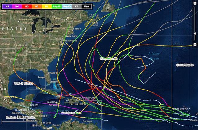 Tracking hurricane Andrea