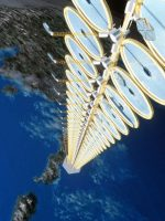 """Proposed space-based """"suntower,"""" one of many examples of solar innovation"""