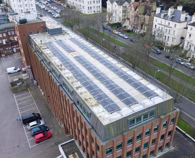 Swiss Re rooftop solar Folkestone, UK