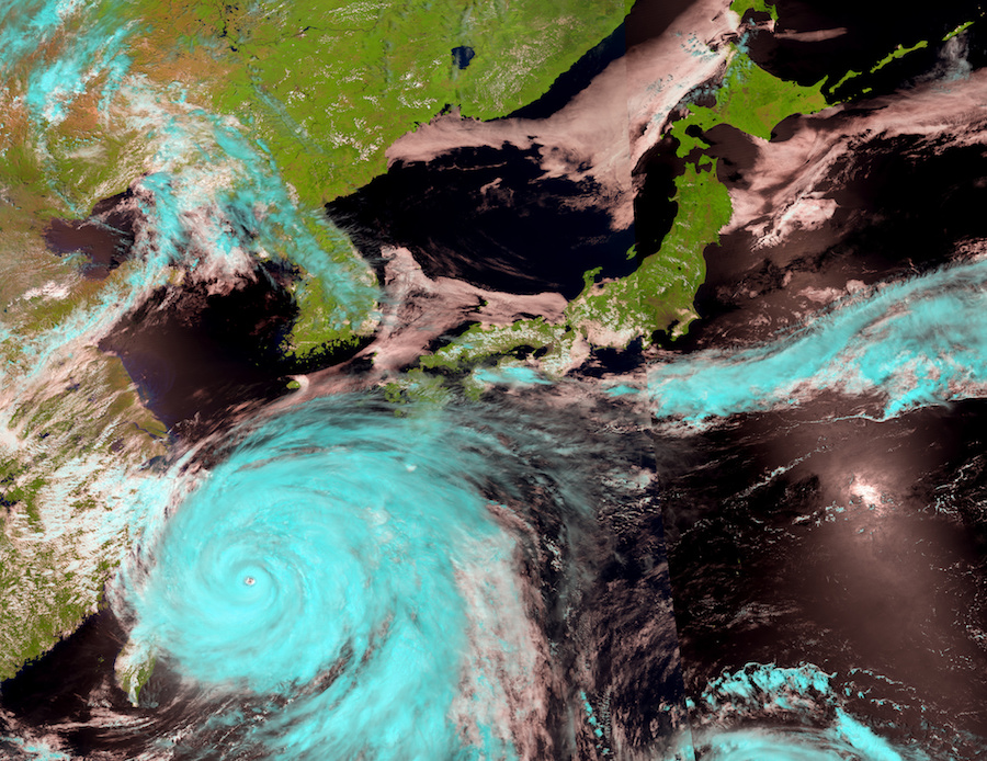East Asia Climate Change: Typhoon are getting more intense