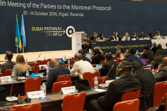Proceeding in Kigali for amending the Montreal Protocol to limit HFCs