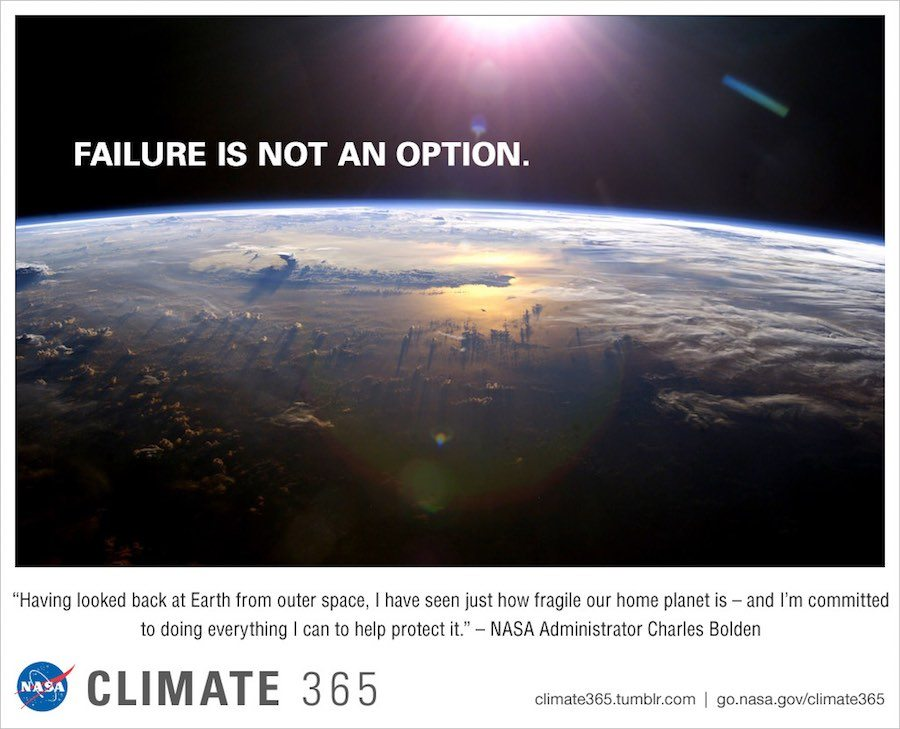 Emissions reductions based on science. Failure is not an option