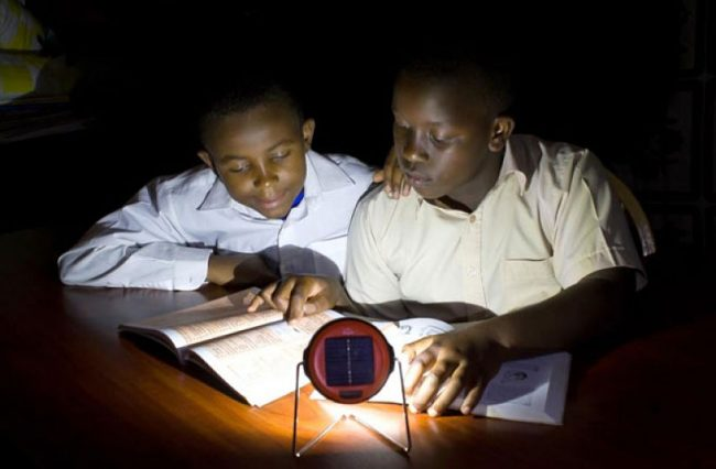 With off-grid power, there is light enough to learn well into the night