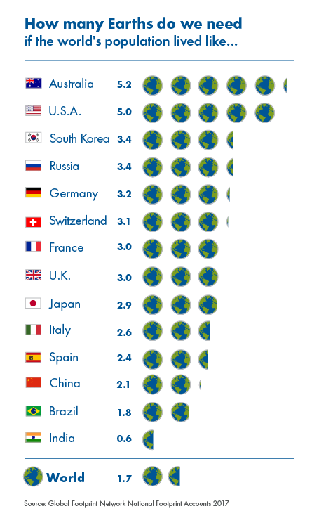 How many Earths? The essential bottom line
