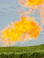 Gas flare at Evanson Place - Arnegard North Dakota