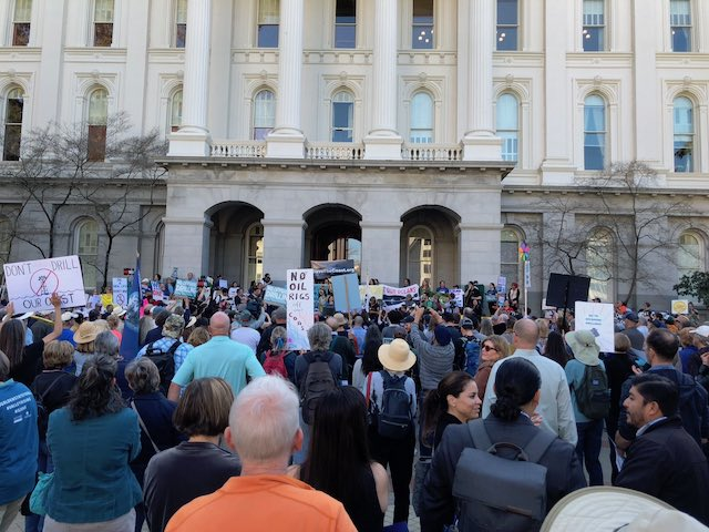 February 8 March and Rally in Sacramento, CA. Opposing Trump and DOI proposal for offshore drilling
