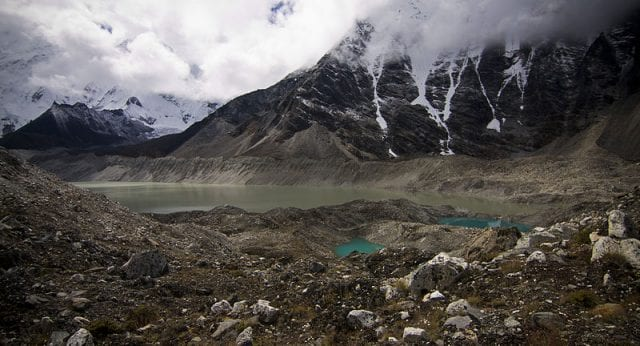 Lake Imja and other glacial lakes pose the risk of massive flooding as ice melts and these lakes swell