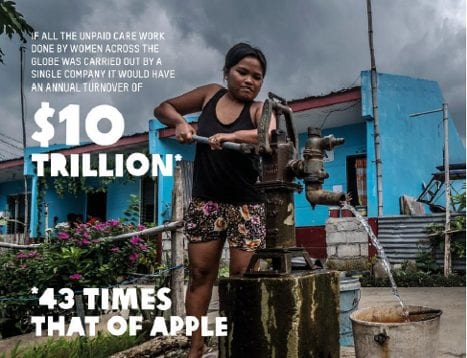 Cheap care: the unpaid work done by women globally would crush Apple, 43 times over